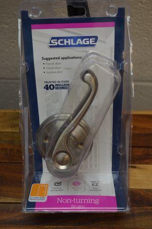 Schlage Non-turning Satin Nickel Flair Lever Left Hand Door Handle for Sale in City of Industry, CA