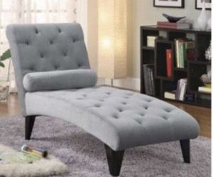 Grey and black contemprary Chaise. Very comfy and relaxing stuff Couch for living room or bedroom decoration for Sale in Santa Clara, CA