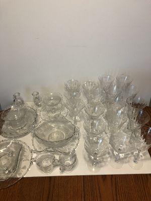 FOSTORIA HEATHER LOT OF GLASSWARE/DISHES for Sale in Oklahoma City, OK