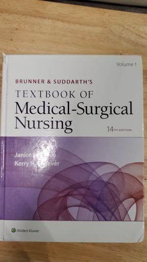 Brunner & suddarth's textbook of medical-surgical nursing 14th edition VOLUME 1 ONLY for Sale in Revere, MA