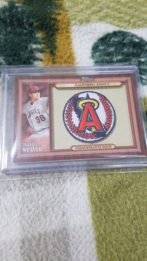 Baseball card- jered weaver commemorative patch for Sale in Roseburg, OR