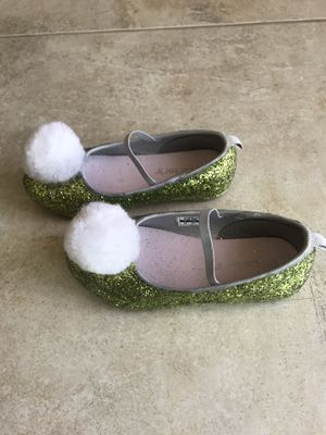 Custom made Tinkerbell costume Shoes - Toddler Size 10 for Sale in Costa Mesa, CA