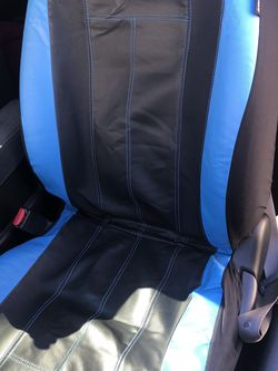 Leather (black/blue) Seat Covers for Sale in Yakima,  WA