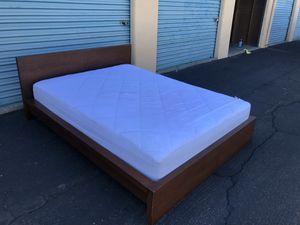 IKEA MALM Queen Bed Frame & IKEA Mattress for Sale in La Mesa, CA
