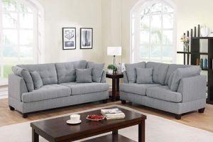 2 piece SOFA LOVESEAT LIVING ROOM COUCH GRAY POLYFIBER LINEN LIKE FABRIC COUCH GREY - SILLONES for Sale in Downey, CA
