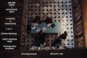 Online MATH + STATISTICS Tutoring & Homework Help for Sale in North Miami, FL