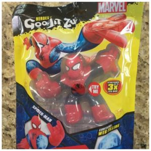 Moose Marvel Heroes of Goo Jit Zu SPIDER-MAN Mushy Web Filling Action Figure for Sale in Fayetteville, NC