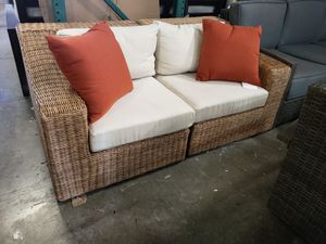 New 2pc outdoor patio furniture sunbrella fabric loveseat tax included for Sale in Hayward, CA