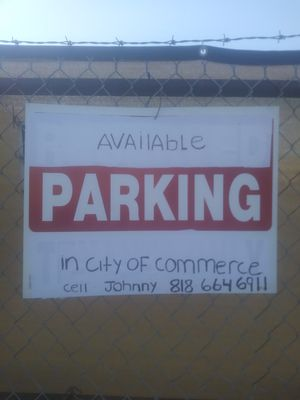 Available parking. for Sale in CTY OF CMMRCE, CA