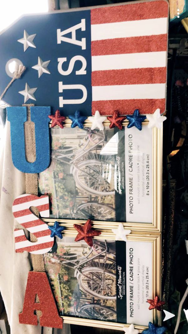 USA Custom hand made 2 picture frame in one 8x10s