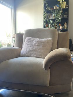 Modern Suede Beige Accent Chair for Sale in Los Angeles,  CA