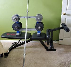 Workout bench and weights for Sale in Houston, TX