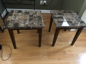 Two side tables and coffee table for Sale in Severna Park, MD
