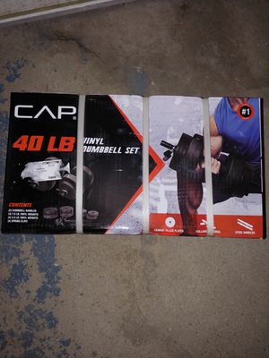 CAP 40lb vinyl dumbbell set new for Sale in Troy, MI