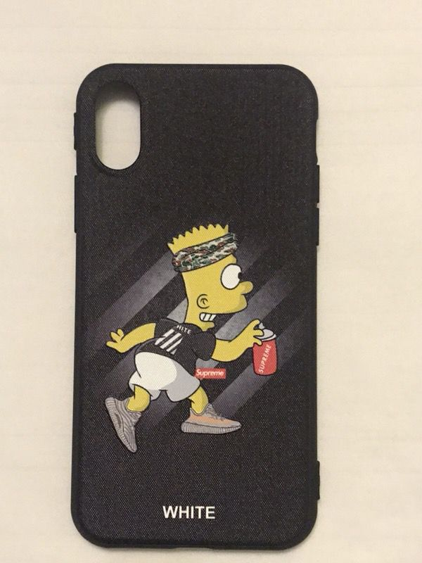 low priced fe0bf db655 New supreme Bart Simpson off white Iphone x case for Sale in Brooklyn, NY -  OfferUp