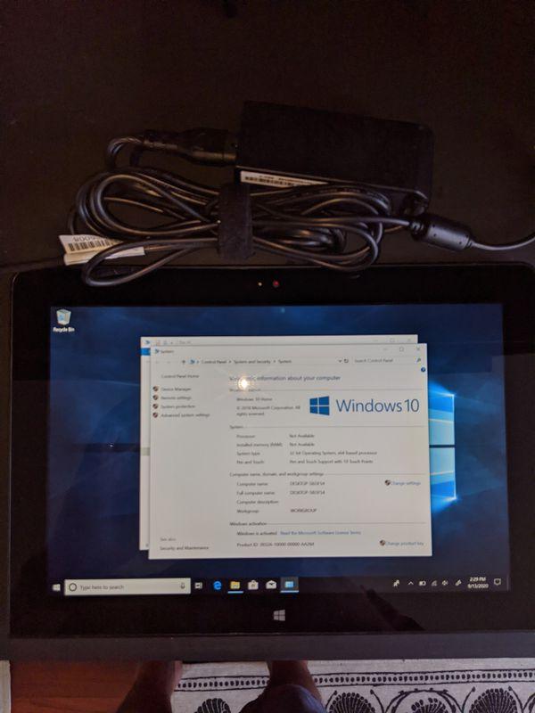 Lenovo Thinkpad Tablet 2 Windows 10 Home