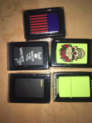 Zippo lighters brand new $15 or $50 for the 5 for Sale in Pomona, CA