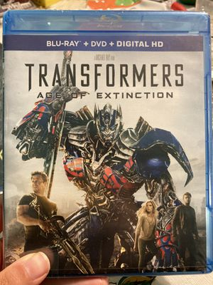 Transformers Age Of Extinction Blu Ray DVD HD DVD. Three in one. for Sale in Hicksville, NY