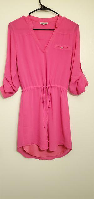Womens Hot Pink Shirt Dress for Sale in San Antonio, TX