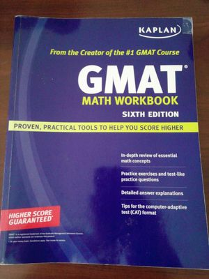 REDUCED!!!GMAT Math Work book, 6th edition by Kaplan. for Sale in Durham, NC