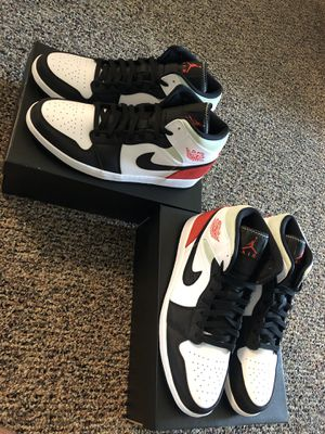 Jordan 1 Mid Union red white black grey sizes 10 12 14 15 for Sale in Orlando, FL