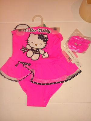 Girls hello Kitty swim suit and matching hair tie size 4T for Sale in Lawrenceville, GA
