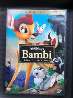 Bambi DVD 2-Disc Platinum Special Edition for Sale in Oak Lawn, IL