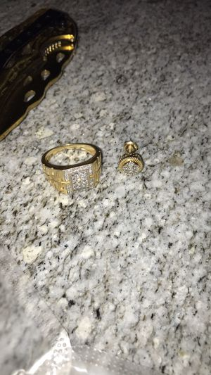 Genuine Diamond Ring and Genuine Diamond Ear Ring for Sale in Boston, MA