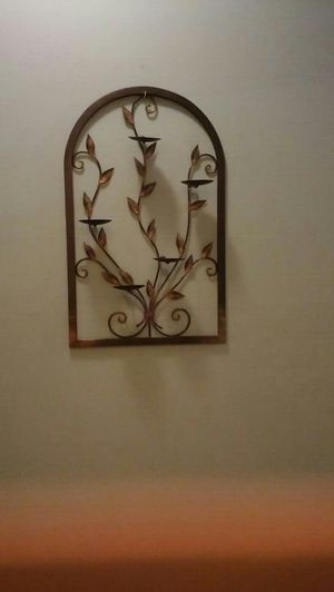Metal wall candle holder, 17 x 25 for Sale in Arlington, TN