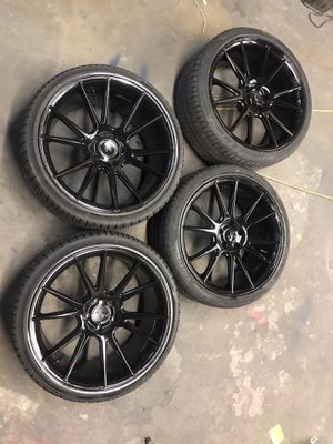 20inch rims 5x112 20s rims and tires 20x9 20x10.5 for Sale in Kent, WA
