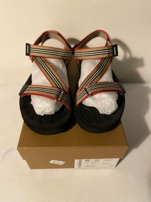 Burberry Men's Patterson Icon-Stripe Strap Sandals for Sale in Fort Lauderdale, FL