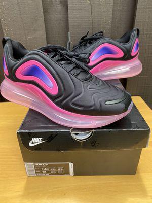 Nike Air Max 720 Black Pink Blast AO2924-005 Men's Sportswear Running Shoes Sz 10.5 for Sale in Mechanicsburg, PA