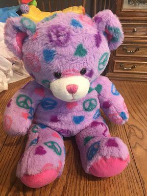 build a bear purple peace bear for Sale in Fort Wayne, IN