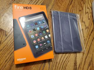 Amazon Kindle Fire HD 8 tablet with case for Sale in Ellicott City, MD