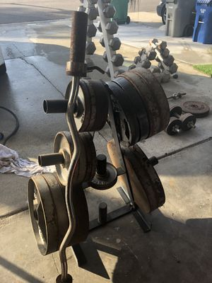 Dumbbells / plates / weights for Sale in Santee, CA