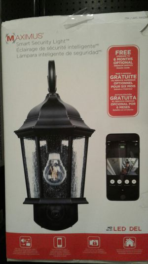 Porch light Led with phone connect camera see from anywhere for Sale in Modesto, CA