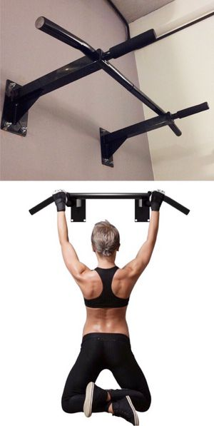 New in box 38 x 20 inch depth heavy duty wall mount pull up bar exercise chin up bar 440 lbs capacity for Sale in Whittier, CA