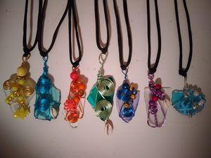 Beach glass pendant necklaces for Sale in Ashtabula, OH