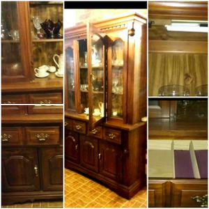 Solid Wood Vintage China Hutch. for Sale in Waco, TX