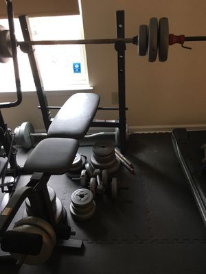 Weight bench and weights for Sale in Evesham Township, NJ