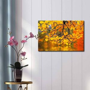 ((Free Shipping)) Yellow Branch Trees Framing a Lake - Canvas Art Home Decor Painting like print for Sale in City of Orange, NJ