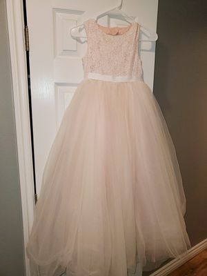 Flower girl dress and tiara for Sale in Costa Mesa, CA