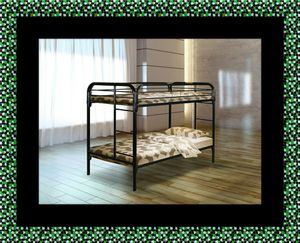 Twin bunk bed frame with mattress for Sale in Greenbelt, MD