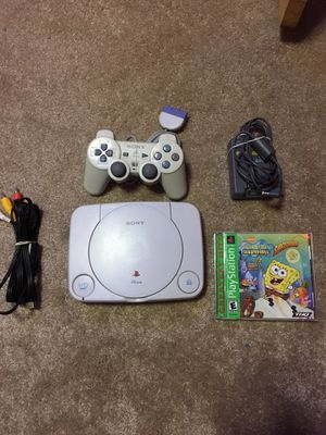 PS1 Mini Slim scph-101 w/ controller, game, and cords- Tested for Sale in Davenport, IA