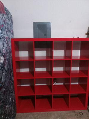Red storage cube organizer shelf for Sale in Portland, OR