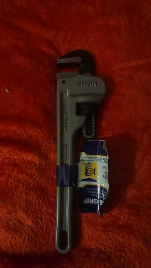 10in. Cast aluminum Irwin pipe wrench for Sale in Las Vegas, NV