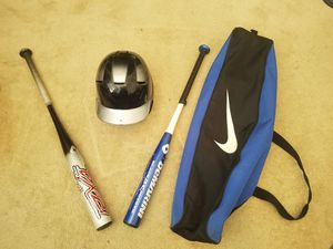 Youth baseball bats, helmet, and bat bag for Sale in Riverview, FL