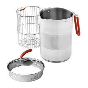 Kuhn Rikon 4th Burner Pot 12-Cup with Steamer Basket for Sale in Springfield, VA