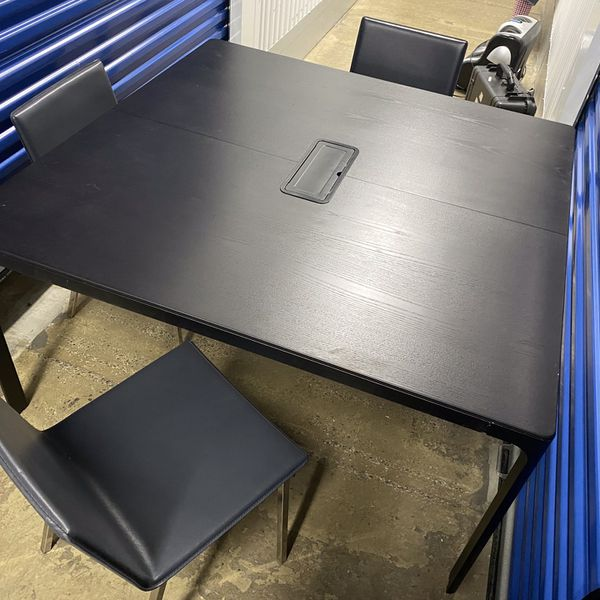 IKEA conference table with 4 chairs