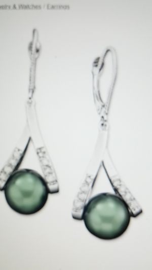 Culture Haitian Pear and Diamond Accent Earrings in 14k Goal for Sale in Silver Spring, MD